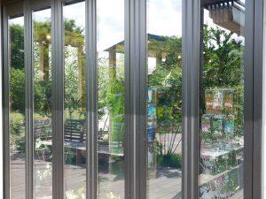 高反射ガラスフィルムの外側からの景色