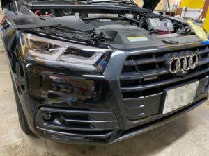 audi Q5 自動車用ヘッドライトプロテクションフィルム施工完成