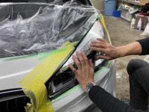 BMW 2シリーズ ヘッドライトプロテクションフィルム施工