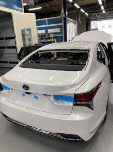 レクサスLS500自動車ガラス交換