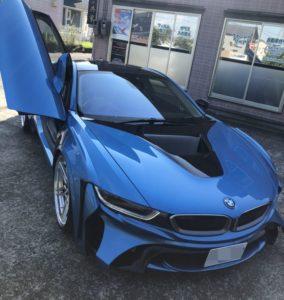 BMW i8 ウルトラビジョン クリマコンフォート カーフィルム施工