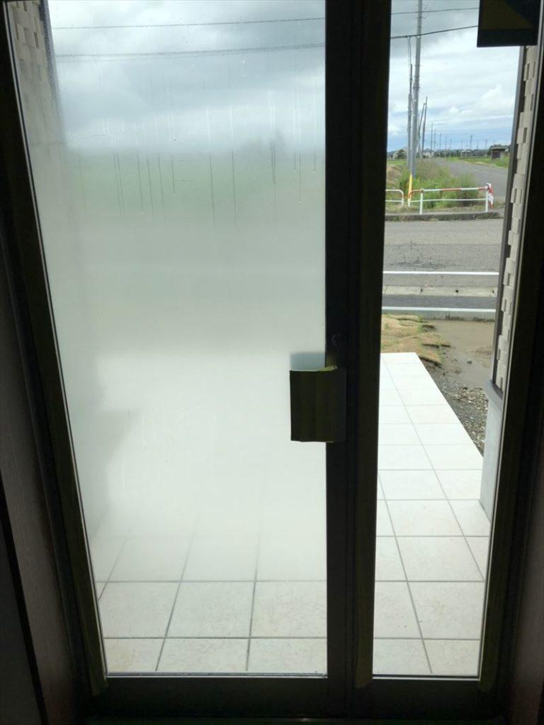 事務所ガラスのグラデーションフィルム施工